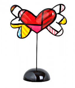 "Figurka ""Flying Heart"" Romero Britto Goebel"