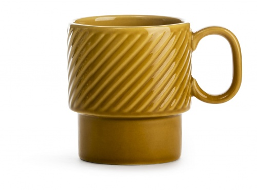 Coffee - filiżanka do kawy, żółta, ceramika, 0,25 l, wys. 9 cm, Sagaform